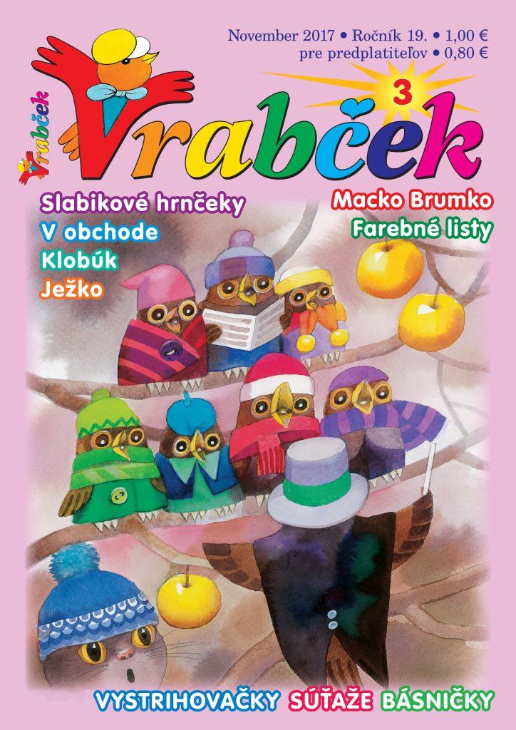 časopis Vrabček november 2017 obálka