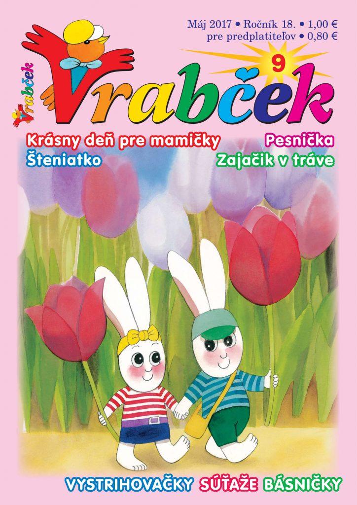 časopis Vrabček máj 2017 obálka