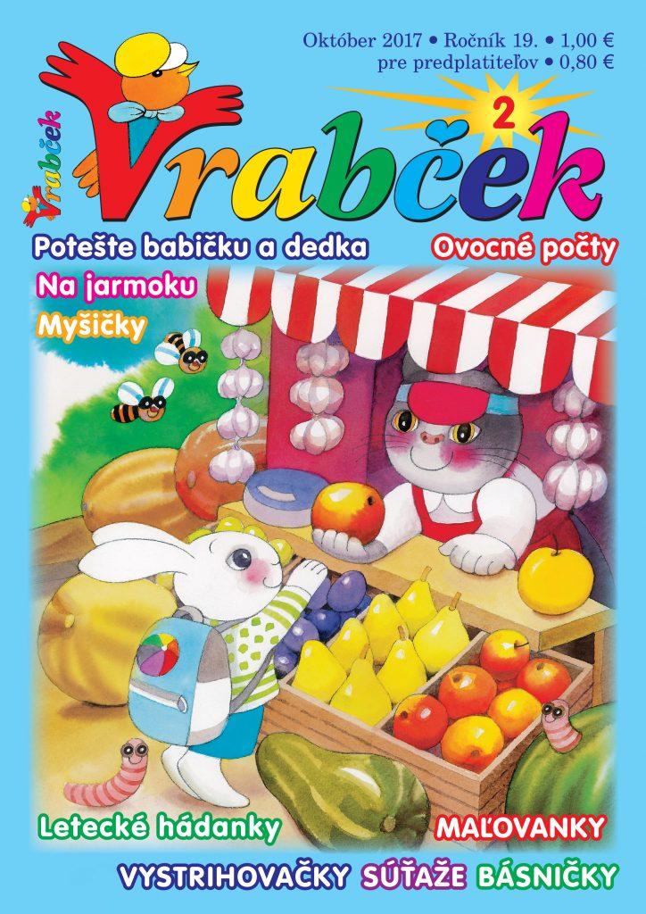 časopis Vrabček október 2017 obálka
