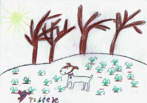 Arielka detská kresba v časopise Vrabček