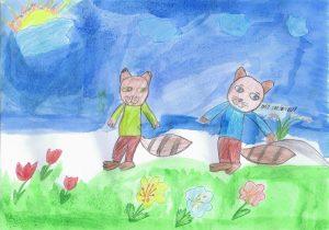 Ťapko a Fúzik na tráve