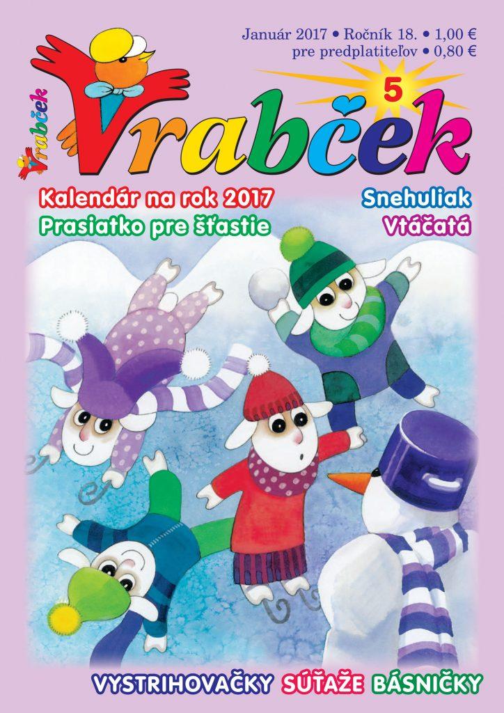časopis Vrabček január 2017 obálka