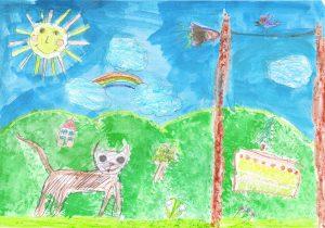 deti nakreslili Zvedavého Murka
