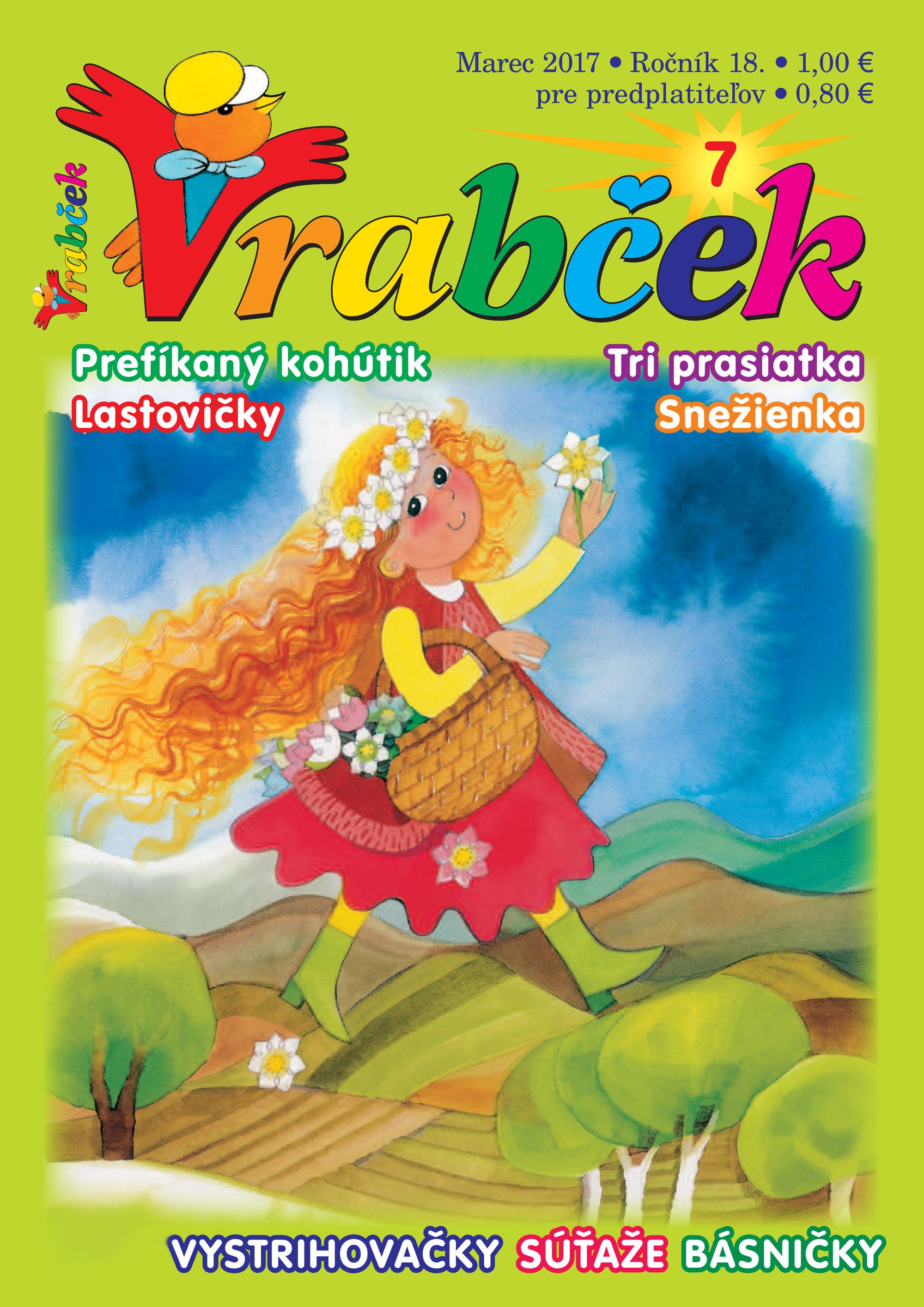 časopis Vrabček marec 2017 obálka