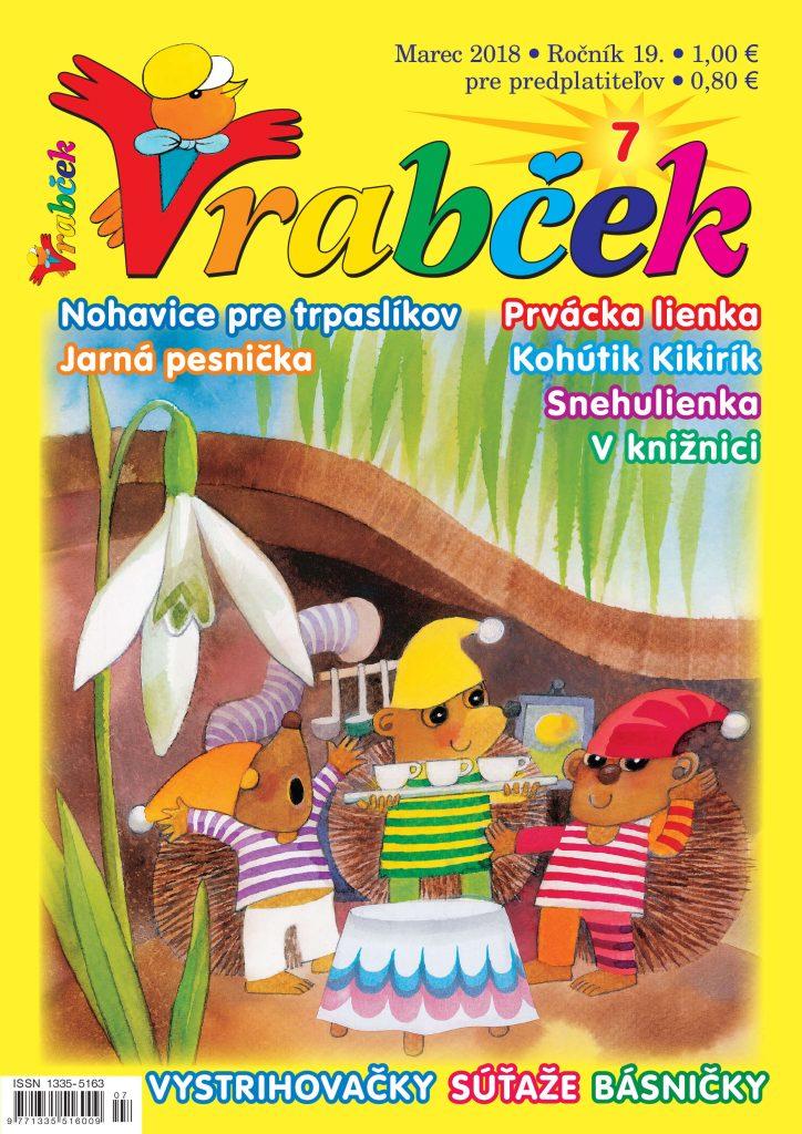 časopis Vrabček marec 2018 obálka