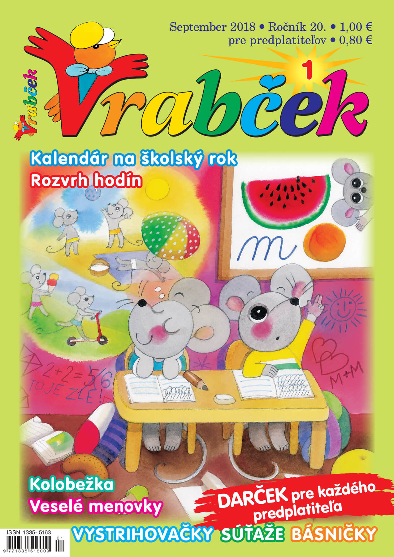 časopis Vrabček september 2018