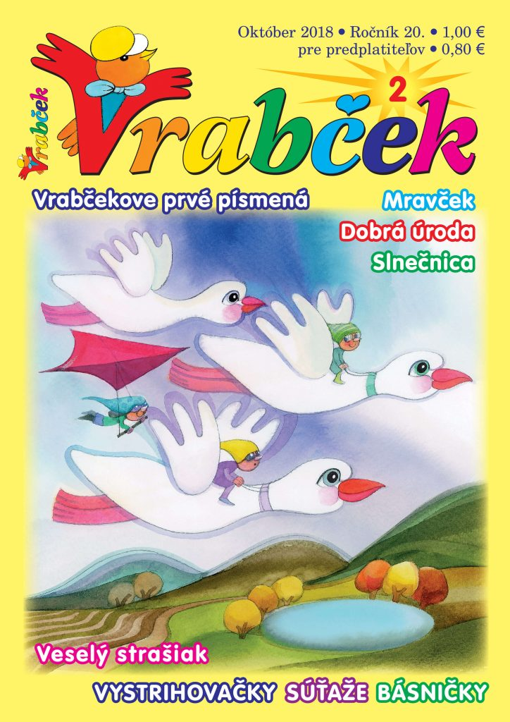 časopis Vrabček október 2018 obálka