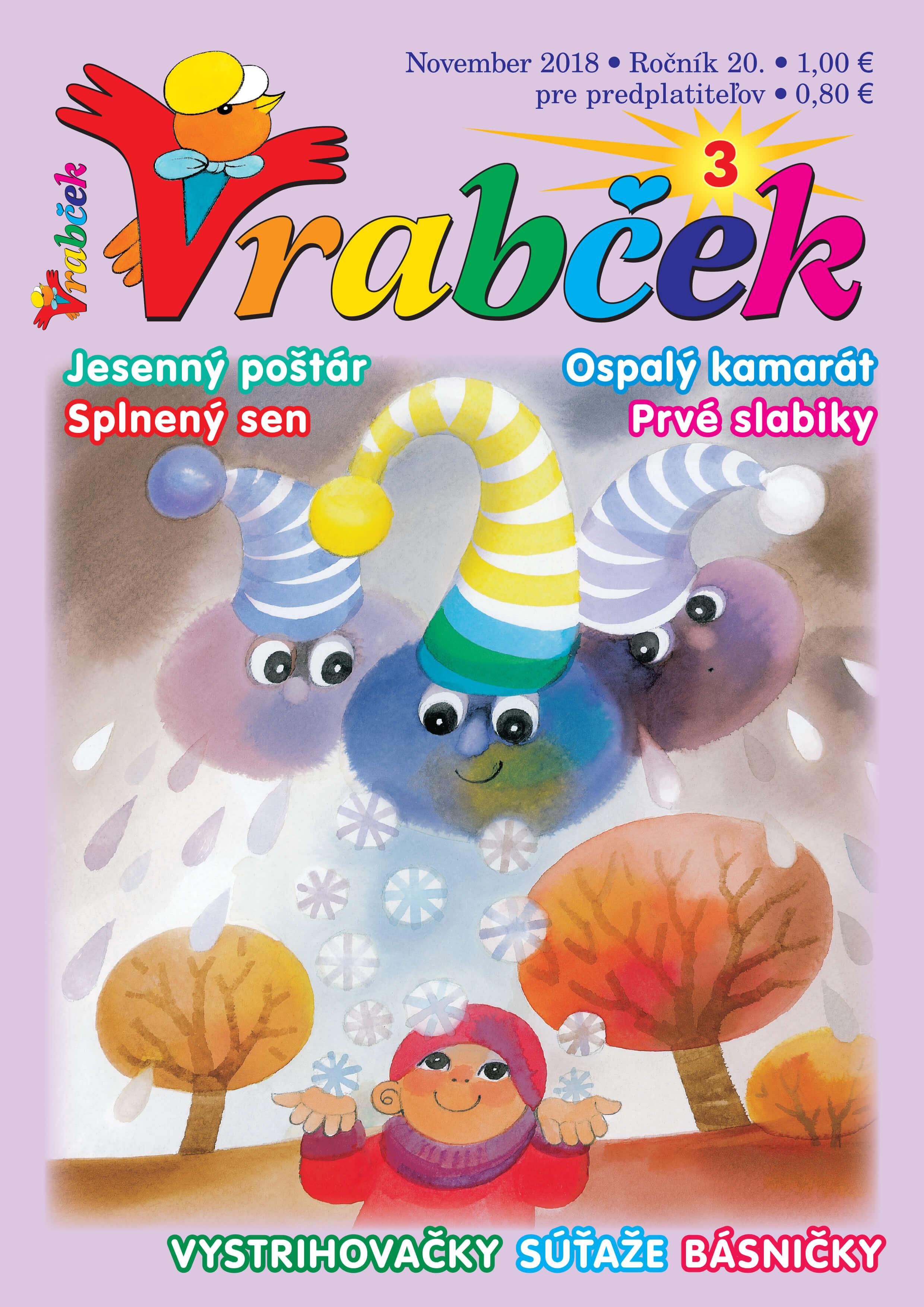 časopis Vrabček november 2018