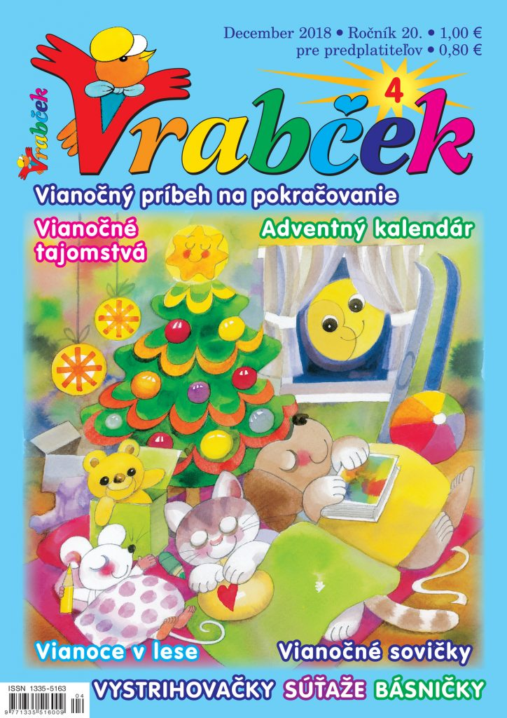 časopis Vrabček december 2018 obálka