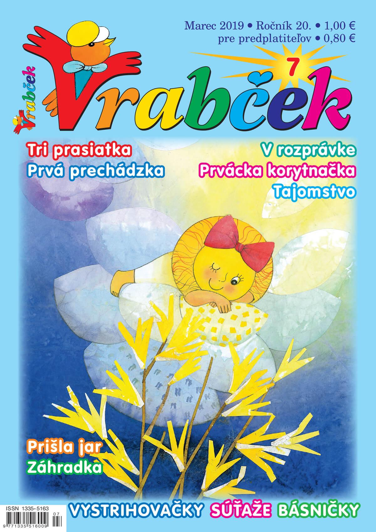 časopis Vrabček marec 2019 obálka