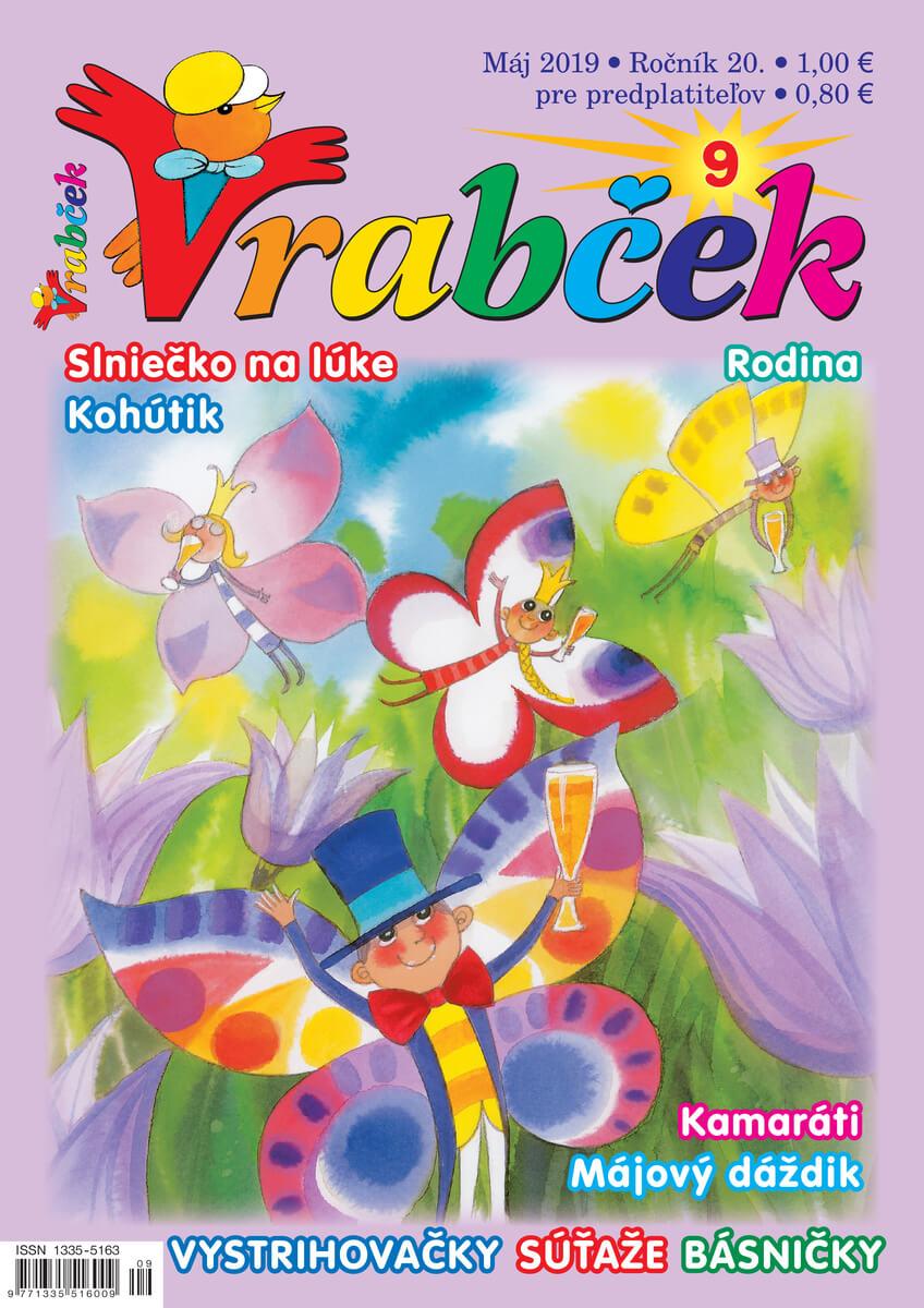 časopis Vrabček máj 2019 obálka