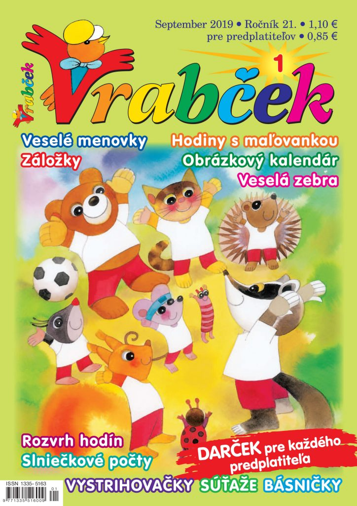 časopis Vrabček september 2019