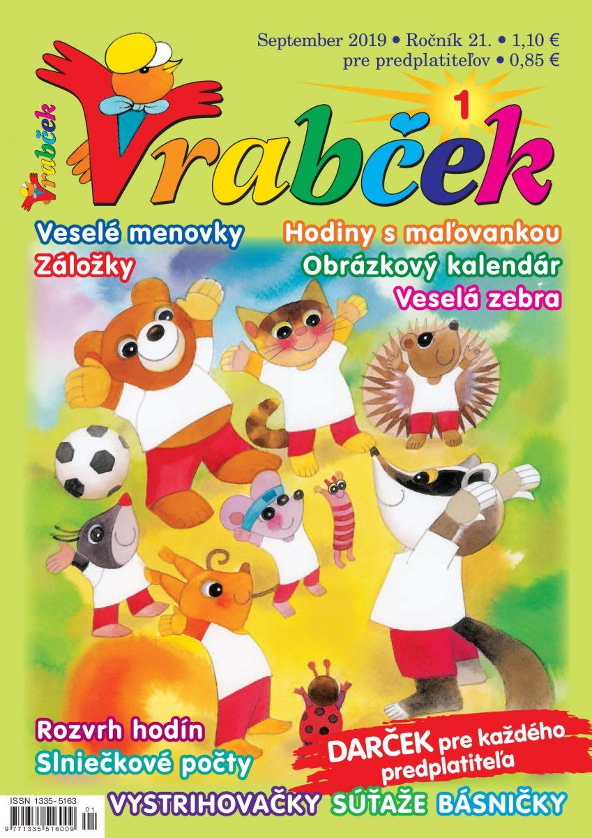 časopis Vrabček september 2019