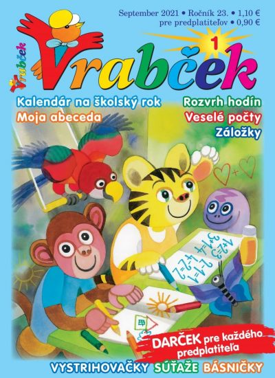 časopis Vrabček september 2017 obálka